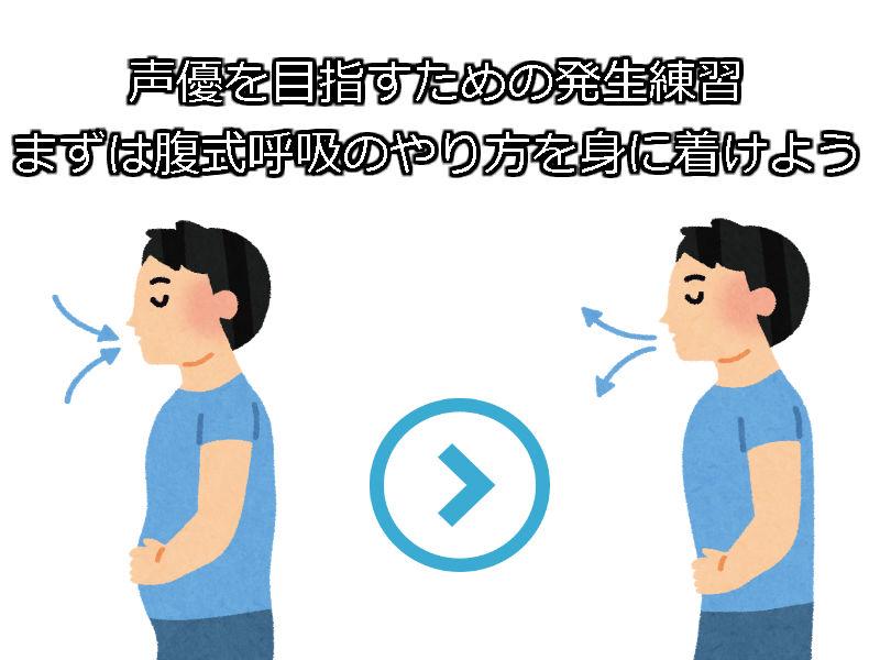声優を目指すための発生練習 まずは腹式呼吸のやり方を身に着けよう